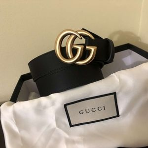 Brand new Gucci skinny gold brass double GG